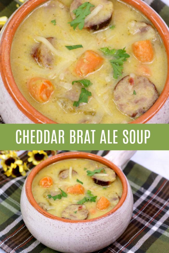 cheddar bratwurst soup with ale