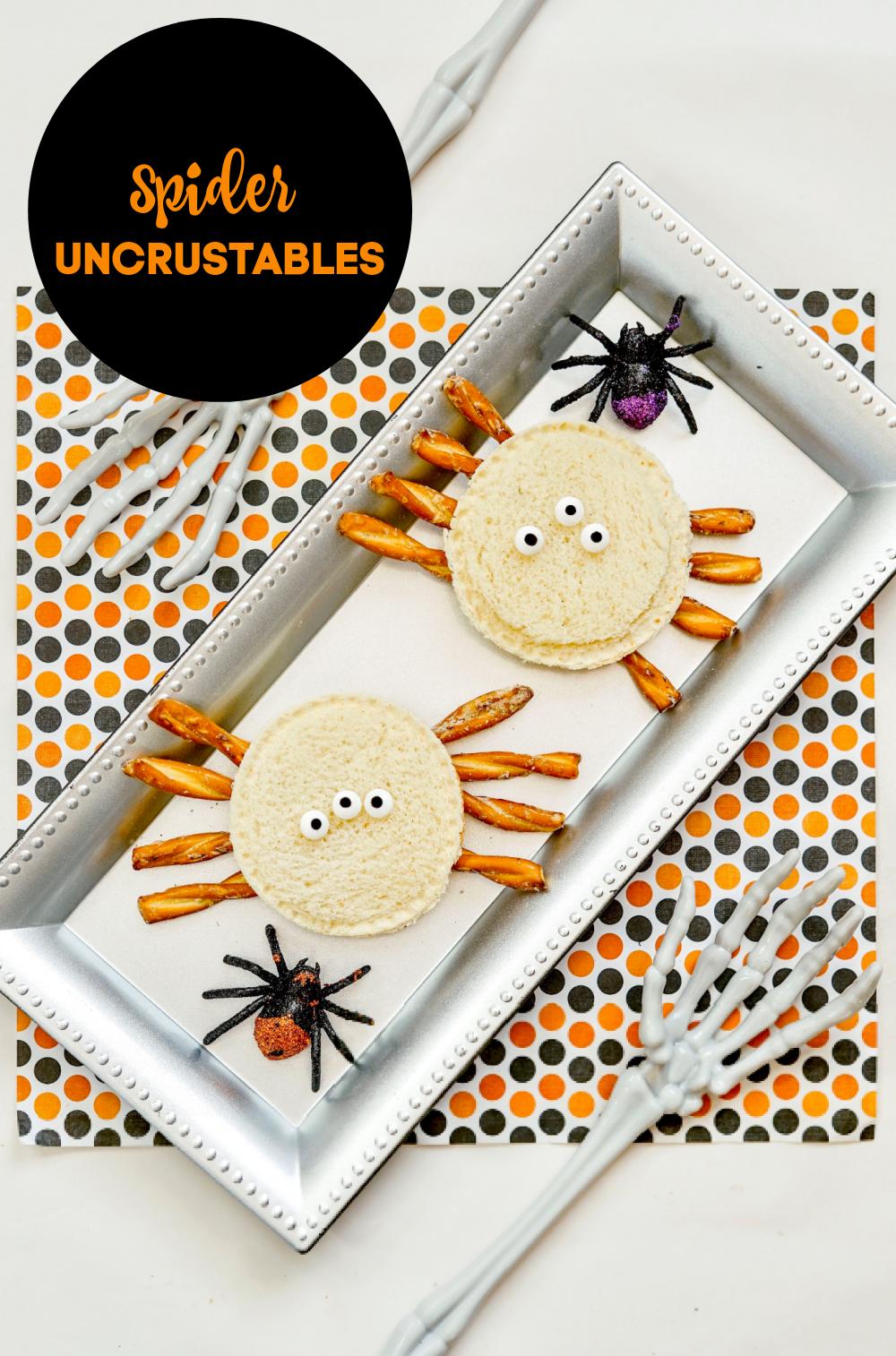 spider uncrustables sandwiches