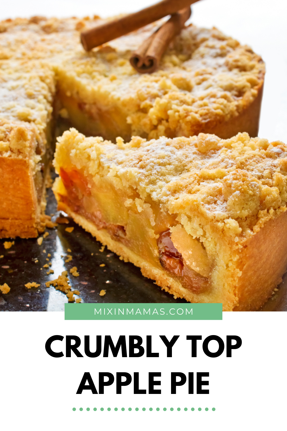 crumbly top apple pie