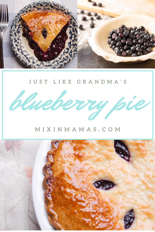 just like grandma's blueberry pie
