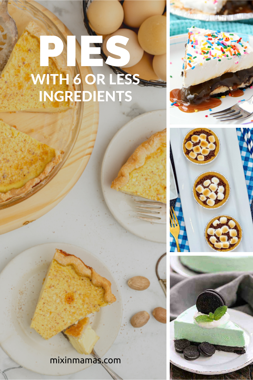 pie recipes with 6 or less ingredients