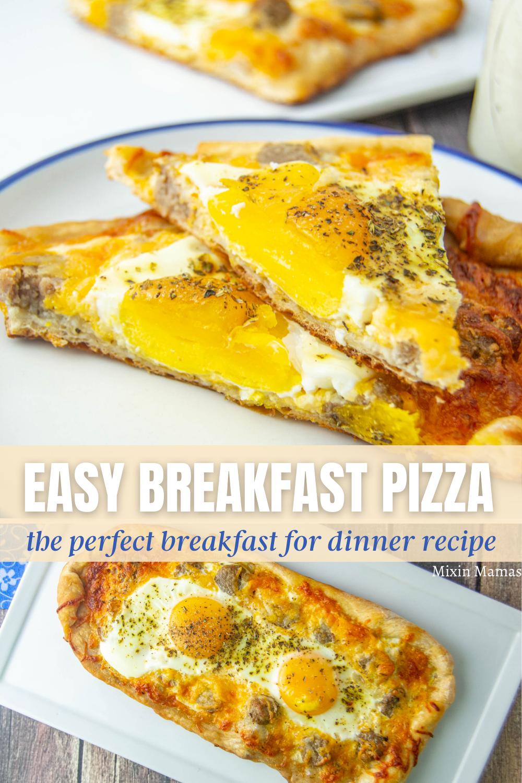 Easy Breakfast Pizza - the perfect breakfast for dinner recipe