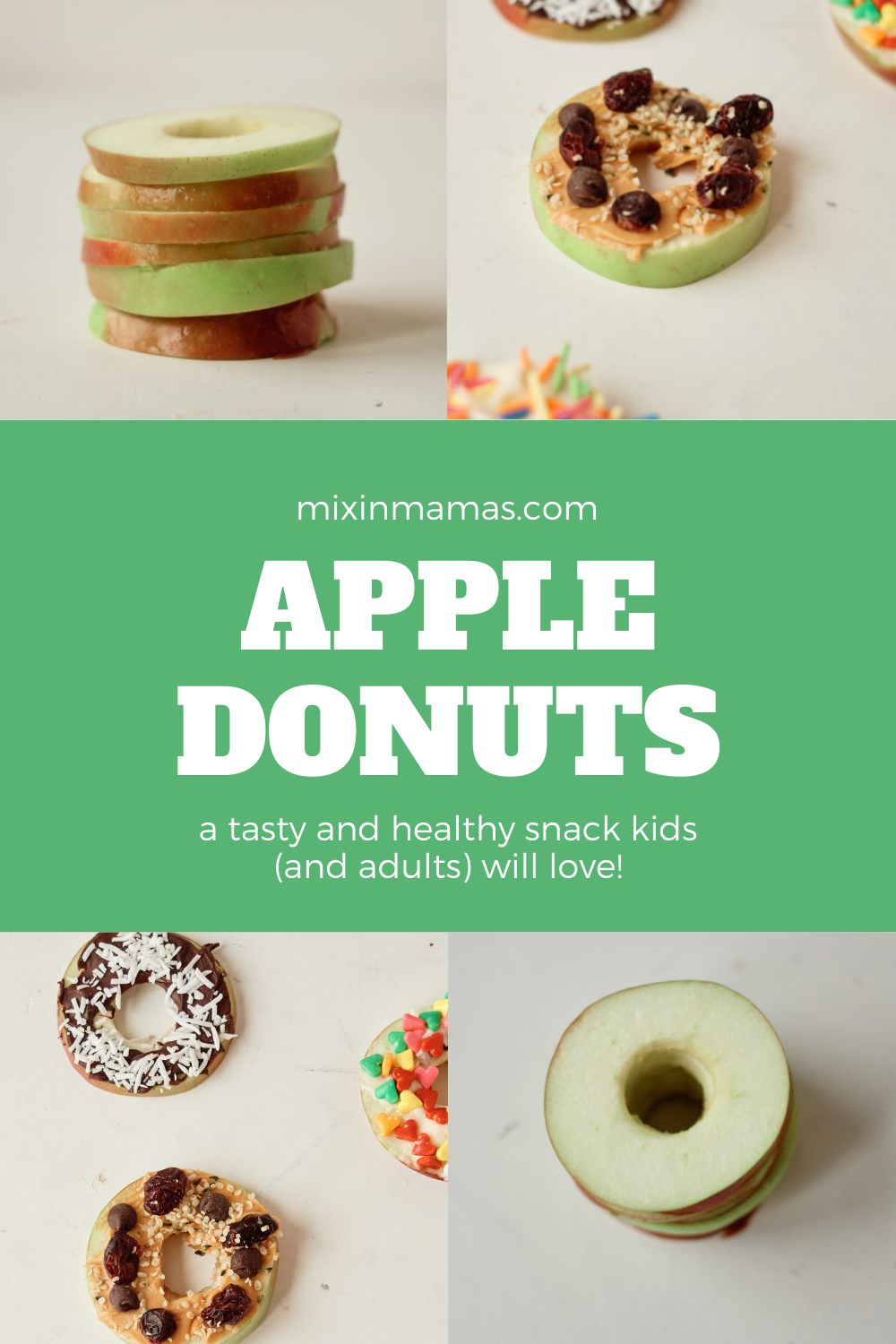 Apple Donuts - a tasty and healthy snack kids (and adults) will love!